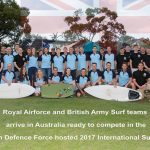 British Army beat the RAF at the International Surfing Festival in Australia